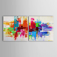 Oil Painting Modern Abstract  Set of 2 Hand Painted Canvas with Stretched Framed