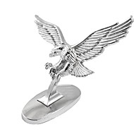 Silver Tone 3D Flying Eagle Adhesive Sticker Decal for Auto Car