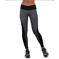 요가 팬츠 하단 / 운동복 통기성 / 높은 호흡 능력(>15.001g) / 수분 투과율 / 보온 / wicking / 압축 높이 스트래치 스포츠 착용 그레이 / 블랙 여성의 기타 요가 / 피트니스 / 레저 스포츠 / 달리기