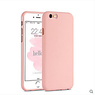 vaaleanpunainen tyttö yksivärinen tyylikäs yksinkertainen pehmeä kotelo iPhone 6 / 6s plus