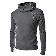 Katoen / Polyester-Effen-Heren-Activewear Sets-Lange mouw
