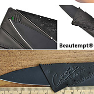 1PCS Black Stainless Steel Mini Folding Credit Card Style Safety Novelty Knife Outdoor Tool