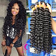 Peruvian Virgin Hair Deep Wave 3Pcs/LOT 6A Peruvian Deep Wave Human Hair Weave Bundles Peruvian Curly Hair