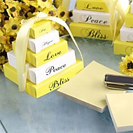 Pearlized Lemon yellow noted Party Gifts, Baby Shower Favors