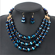 Women's Rhinestone Jewelry Set Crystal