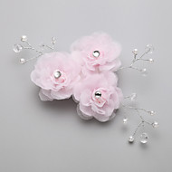 Women's / Flower Girl's Alloy / Imitation Pearl / Chiffon Headpiece - Wedding / Special Occasion Hair Combs 1 Piece