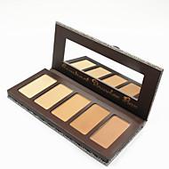 5 Colors Pudder Tør Pudder Dekning / Concealer / Naturlig / Pore Reducerende Ansigt Flerfarvet