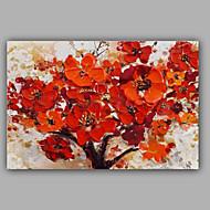 Hånd-malede Blomstret/BotaniskModerne Et Panel Canvas Hang-Painted Oliemaleri For Hjem Dekoration