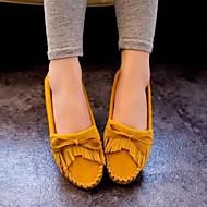 Kényelmes / Kerek orrú - Lapos - Női cipő - Balerinek - Szabadidős / Alkalmi - Bőrutánzat -Fekete / Kék / Barna / Sárga / Zöld / Vörös /