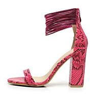 נעלי נשים - סנדלים - דמוי עור - עקבים - שחור / אדום / לבן / אפור / כתום - שמלה / קז'ואל / מסיבה וערב - עקב עבה