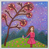 Stretched Canvas Oil Painting Art Home Style Children Painting 70*70CM