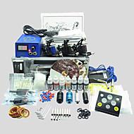 3 maskiner basekey tattoo kit K309 maskine med strømforsyning greb kopper nåle (blæk medfølger ikke)