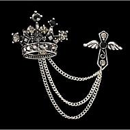 New Arrival Fashion Jewelry Retro Rhinestone Imperical Crown Brooch