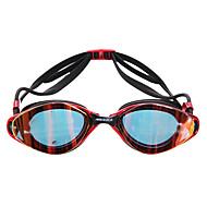 MESUCA Óculos de Natação Anti-Nevoeiro Á Prova-de-Água Tamanho Ajustável Gel Silica PC Rosa Preto Azul Rosa Preto Azul
