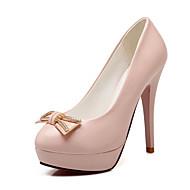 Women's Shoes Stiletto Heel Heels / Platform / Round Toe Heels Party & Evening / Dress / Casual Blue / Pink / Beige