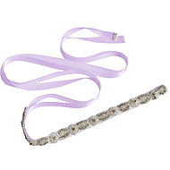 Satin Wedding / Party/ Evening / Dailywear Sash - Beading / Appliques / Pearls / Crystal / Embroidery Women's Sashes