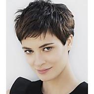 stile affascinante colore naturale parrucca onde corte syntheic