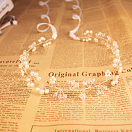 2016 Women's / Flower Girl's Crystal / Imitation Pearl Headpiece - Wedding / Special Occasion / Outdoor Headbands Cheap