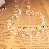 女性の/花の女の子のクリスタル/模造の真珠のヘッドピース - 結婚式/特別な機会/屋外のヘッドバンド安い