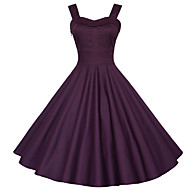Maggie Tang Women's 50s VTG Retro Rockabilly Hepburn Pinup Business Swing Dress 583