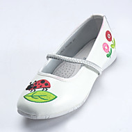 Girls' Casual Fashion Shoes Dress Round Toe Suede Flats White