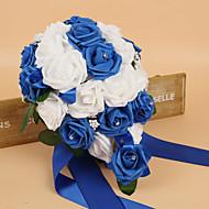 """פרחי חתונה עגול ורדים זרים חתונה משי קצף 10.24""""(לערך.26ס""""מ)"""