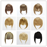Bangs or Fringes Human straight hair 3clips 30g Clip in on hair extensions Free shipping Janet Colorful