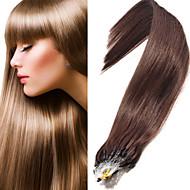 EVET перуанские человеческие волосы прямые микро наращивание волос кольцо микро петля 0.5g / нитка 50г / серия