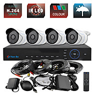 YanSe® 4CH 960H CCTV DVR Kit IR Color Waterproof Camera Security Cameras System 1000TVL 719CF04