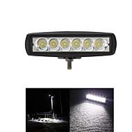 1800lm 미니 18w 12V 크리 자리 주도 6 인치 보트 / 사냥 / 낚시 / 오프로드에 대한 작업 빛 바 자동차 작업등 램프