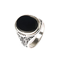 Men's Retro Ethnic style Carved Alloy Jewels Ring 04
