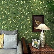 Деревья / Листья Обои Современный Облицовка стен,Нетканая бумага Да