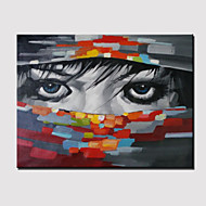 Hand-Painted Sexy Mysterious Hermit Abstract Portrait Modern Oil Painting On Canvas With Frame Ready to Hang