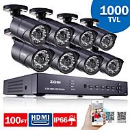 zosi® 8 채널 HDMI 960h DVR 8 개 1000tvl IR 홈 감시 보안 카메라 cctv 시스템