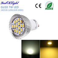 7W GU10 Lâmpadas de Foco de LED G50 15 SMD 5630 600 lm Branco Quente / Branco Frio Decorativa AC 220-240 / AC 110-130 V 1 pç