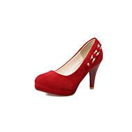 נשיםפליז-פלטפורמה-שחור אדום-חתונה שמלה מסיבה וערב-עקב סטילטו פלטפורמה
