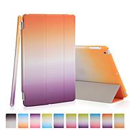 buena calidad de la PU cuero arco iris funda gradiente de Mini iPad 3/2/1
