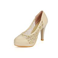 Women's Shoes Leatherette Stiletto Heel Heels / Basic Pump Heels Office & Career / Party & Evening / Dress Blue /