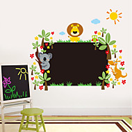 Wall Stickers Wall Decals Style New Cartoon Lion Blackboard Waterproof Removable PVC Wall Stickers
