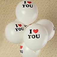 10pcs em forma de coração balão casamento balão impressão de fotos de moda casar com o amor balão balão