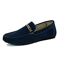 Men's Shoes Casual Suede Loafers Black / Blue / Brown