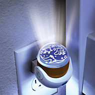 0.5w pequeñas luces nocturnas dirigidas creativas controlan lámpara de inducción cielo proyección portalámparas llevó