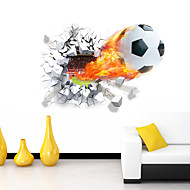 3D Wall Stickers Wall Decals Style Football Waterproof Removable PVC Wall Stickers