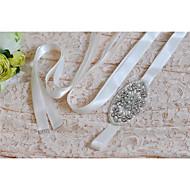 Satijn Huwelijk / Feest/Uitgaan / Dagelijks gebruik Sjerp-Pailletten / Sierstenen / Appliqués / Parels / Strass Dames 98 ½ In (250Cm)