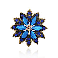 Femme Broche Gemme Acrylique Strass Alliage Mode Bijoux de déclaration Café Vert Bleu BijouxMariage Soirée Occasion spéciale Anniversaire