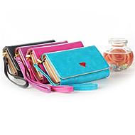 caso bolsa carteira bolsa de telefone celular de luxo com suporte de cartão de galáxia S6 edge / S6 / S5 / S4 / s3 iphone5 / 5s / 6/6 mais