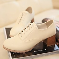 Women's Shoes Chunky Heel Round Toe Oxfords Office & Career / Dress / Casual Black / Beige