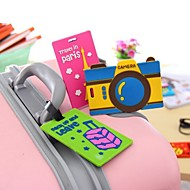 Luggage Tag Pvc Travel Baggage Identification Card Suitcase Label Drawer Checked Licensing(Random Color)
