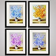 Abstrato / Floral/Botânico / Natureza Morta / Fantasia Impressão de Arte Emoldurada / Quadros Emoldurados / Conjunto Emoldurado Wall Art,