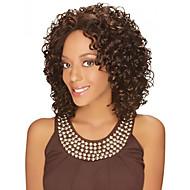 Kvinder Syntetiske parykker Lågløs Medium Krøllet Brun Afro-amerikansk paryk Til sorte kvinder Midterskilning Naturlig paryk kostume